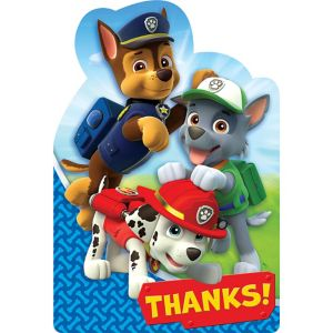 PAW Patrol Thank You Notes 8ct