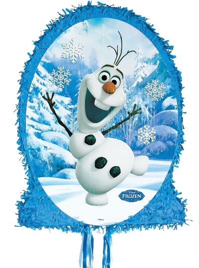 Pull String Olaf Pinata Frozen 22in Party City