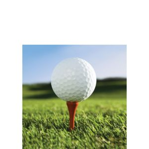 Golf Beverage Napkins 18ct