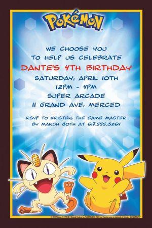 Custom Pikachu and Friends Invitations