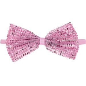 Child Light Pink Sequin Bow Elastic Headband