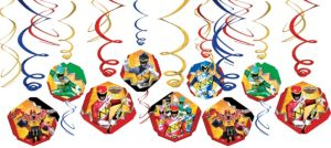 Power Rangers Swirl Decorations 12ct
