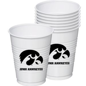 Iowa Hawkeyes Plastic Cups 8ct