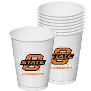Oklahoma State Cowboys Plastic Cups 8ct