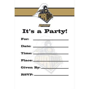 Purdue Boilermakers Invitations 8ct