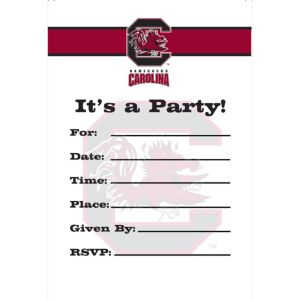South Carolina Gamecocks Invitations 8ct