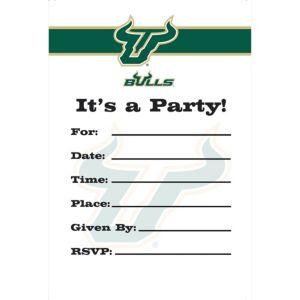 South Florida Bulls Invitations 8ct