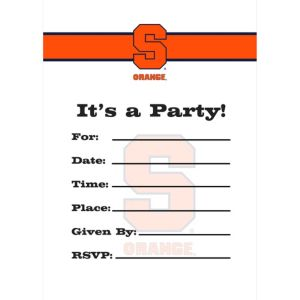 Syracuse Orange Invitations 8ct