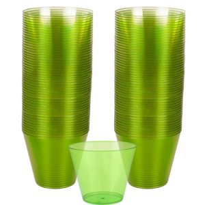 Big Party Pack Kiwi Green Plastic Cups 72ct