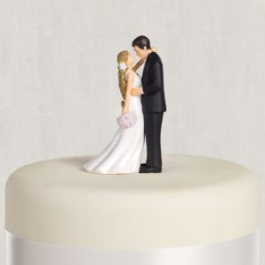 Blonde Bride & Groom Wedding Cake Topper