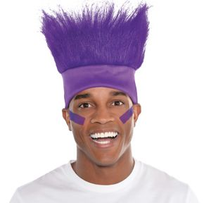 Purple Crazy Hair Headband