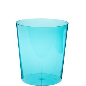 Caribbean Blue Plastic Cylinder Container