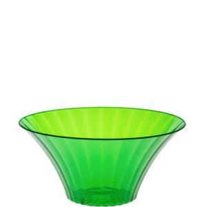 Small Kiwi Green Plastic Flared Bowl