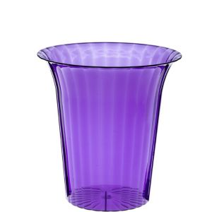 Purple Plastic Flared Cylinder Container