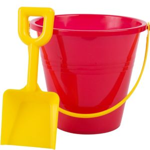 Red Beach Pail with Shovel