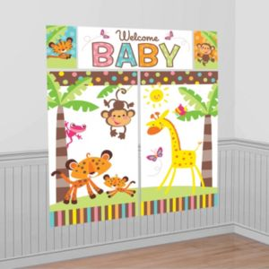 Fisher-Price Jungle Baby Shower Scene Setter