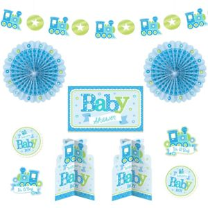 Welcome Baby Boy Baby Shower Room Decorating Kit 10pc