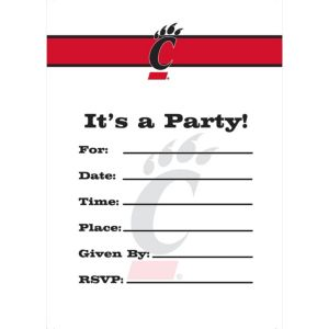 Cincinnati Bearcats Invitations 8ct