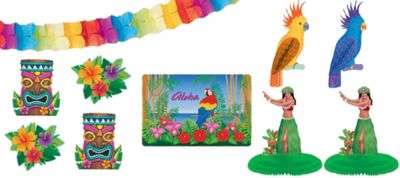 Hawaiian Luau Decorating Kit 9pc