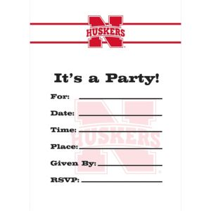 Nebraska Cornhuskers Invitations 8ct