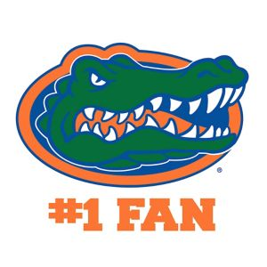 Florida Gators #1 Fan Decal