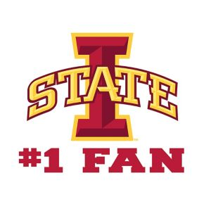 Iowa State Cyclones #1 Fan Decal