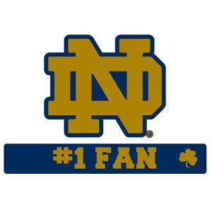 Notre Dame Fighting Irish #1 Fan Decal