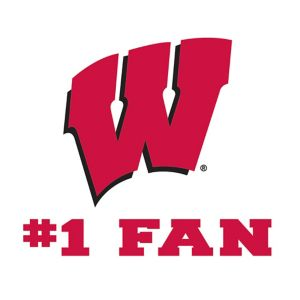 Wisconsin Badgers #1 Fan Decal