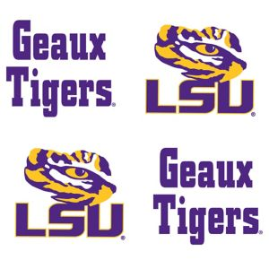 Louisiana State Tigers Face Tattoos 4ct