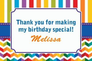 Custom Birthday Bright Thank You Notes