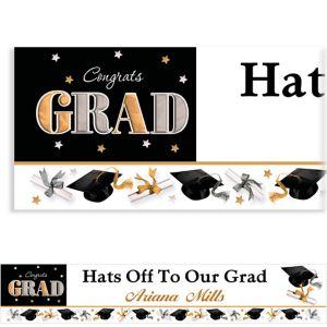 Custom Festive Grad Banner 6ft