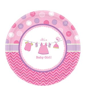 It's a Girl Baby Shower Dessert Plates 8ct