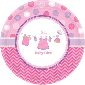 It's a Girl Baby Shower Dinner Plates 8ct