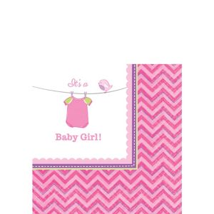 It's a Girl Baby Shower Beverage Napkins 16ct