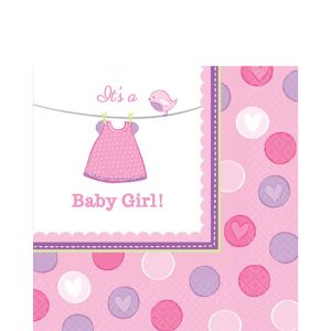 It's a Girl Baby Shower Lunch Napkins 16ct