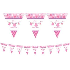 It's a Girl Baby Shower Pennant Banner