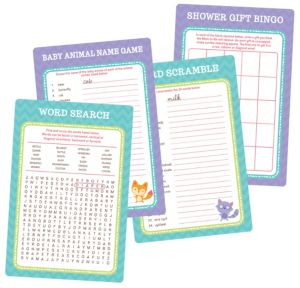Woodland Baby Shower Game Kit