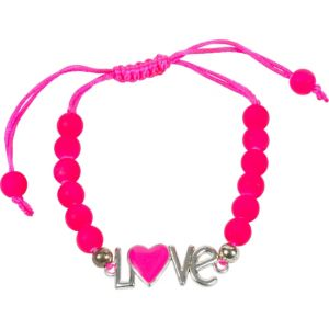 Hot Pink Sliding Knot Love Bracelet