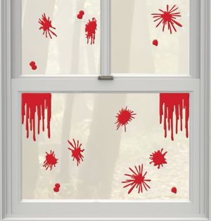 Blood Splatter Gel Cling Decals 15ct - Asylum