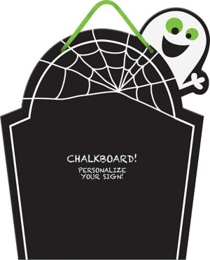 Friendly Ghost Chalkboard Sign