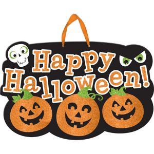 Glitter Friendly Happy Halloween Sign