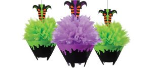Cauldron Fluffy Decorations 3ct - Witch's Crew
