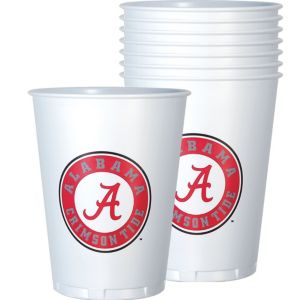 Alabama Crimson Tide Plastic Cups 8ct