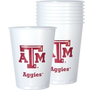 Texas A&M Aggies Plastic Cups 8ct