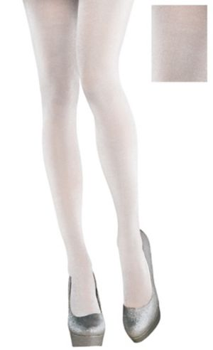 White Shimmer Tights