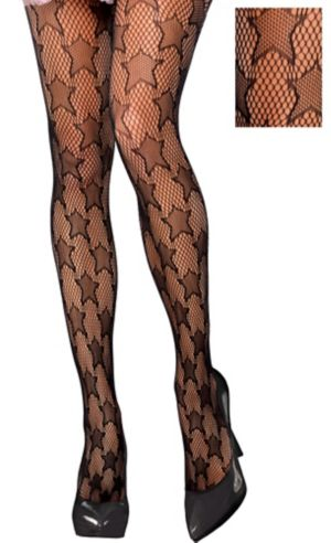 Black Star Fishnet Stockings