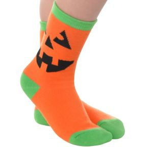 Child Jack-o'-Lantern Crew Socks