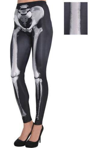 Skeleton Leggings - Black & Bone