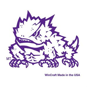 TCU Horned Frogs Face Tattoos 4ct