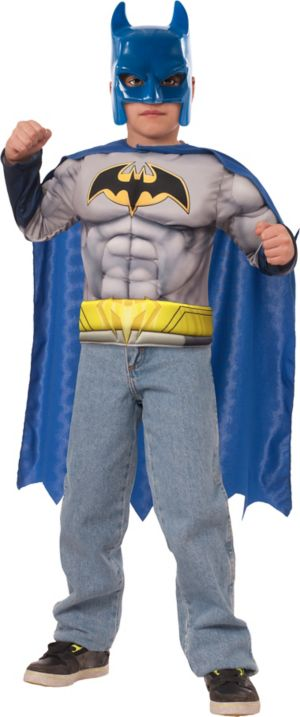 Child Batman Muscle Costume Accessory Kit 3pc
